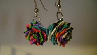 homemade duct tape earrings