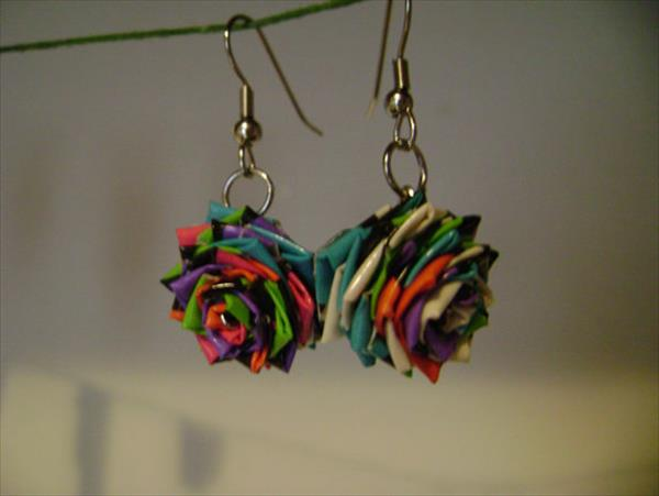 homemade duct tape earrings