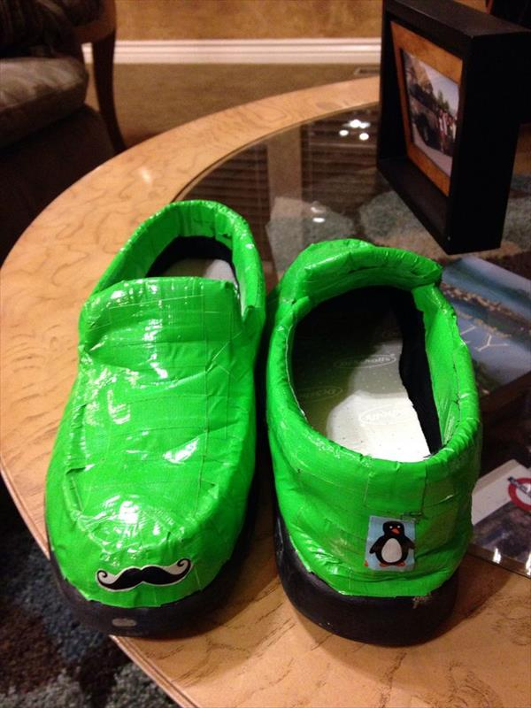 altered duct tape shoes