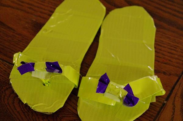 reprocessed duct tape shoes