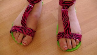 DIY Duct Tape Shoes Tutorial
