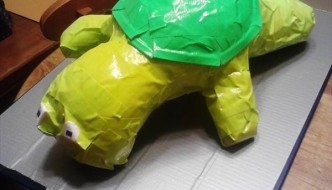 DIY Duct Tape Turtle – Kids Craft