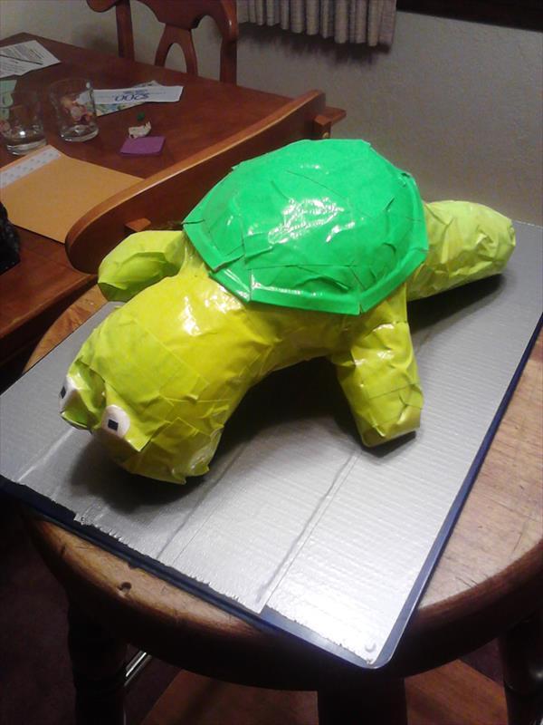 homemade duct tape animal