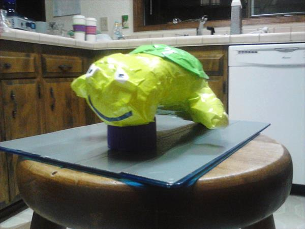 handmade duct tape turtle