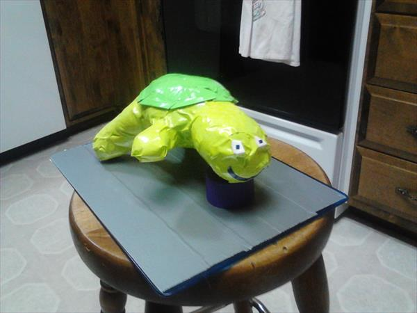 home produced duct tape turtle
