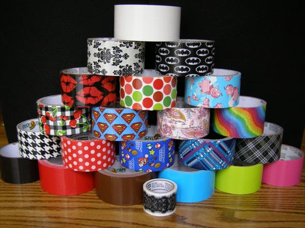 stock of duct tapes for wallet
