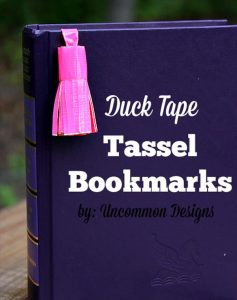handmade duct tape tassel bookmark