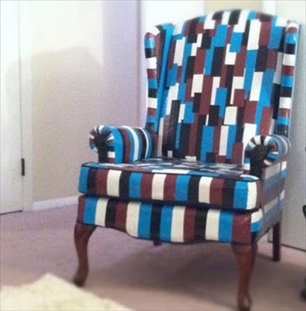 handmade duct tape chair