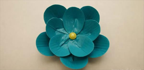 diy duct tape flower idea