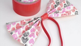 DIY Duct Tape Hair Bow