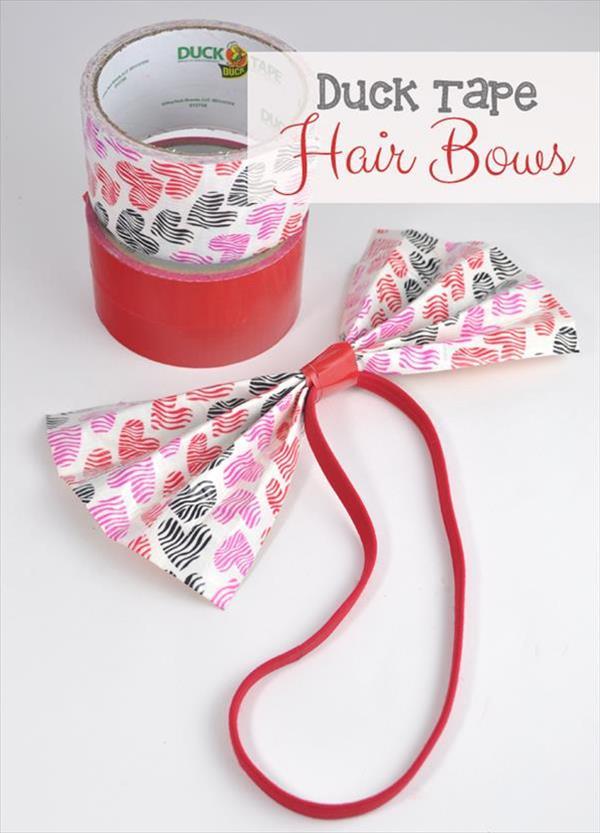 handmade duct tape hair bow