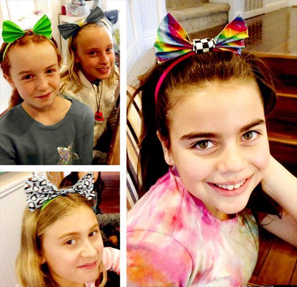 creative duct tape hair bows