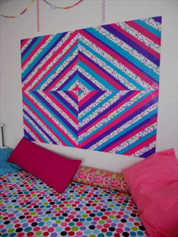 homely prepared duct tape wall art