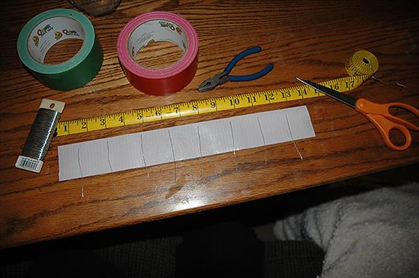 supply for duct tape wreath