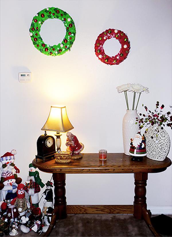 handmade duct tape wreaths