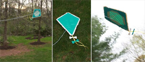 self made duct tape kite