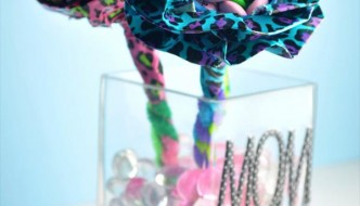 duct tape flower bouquet