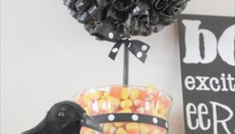diy halloween duct tape topiary