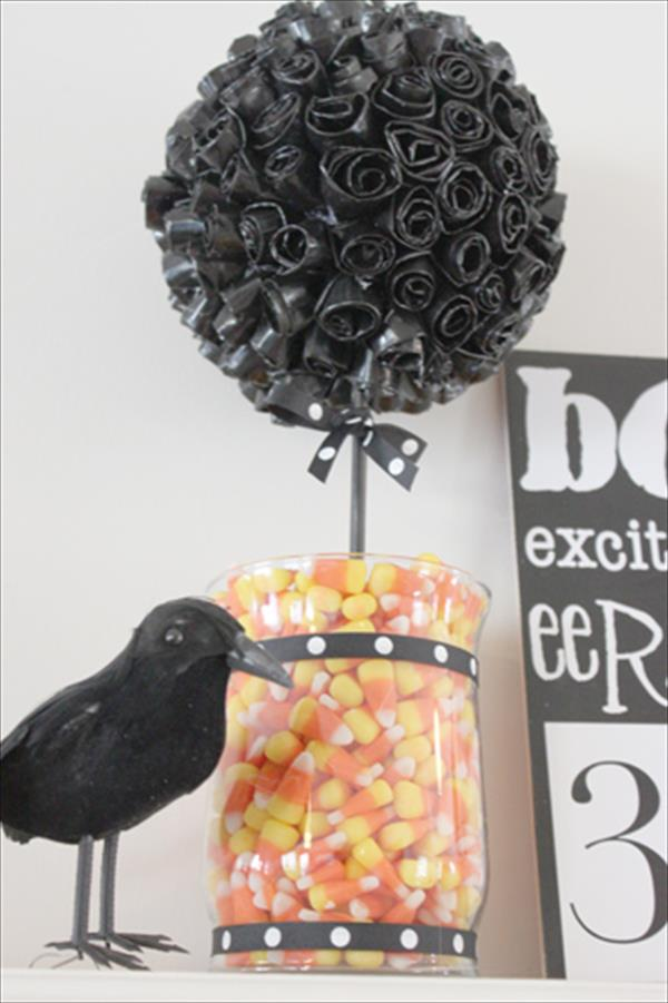 diy halloween duct tape topiary
