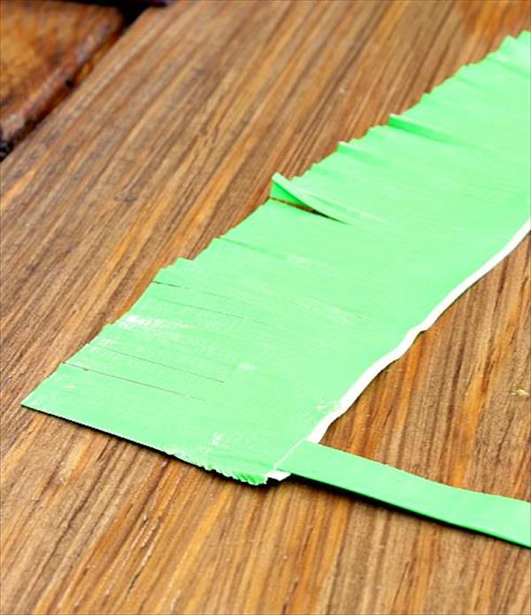 fringing of duct tape strip