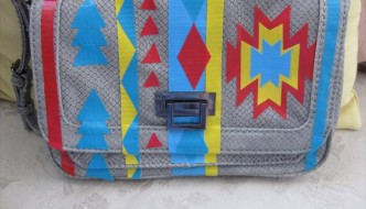 duct tape hand patterned bag
