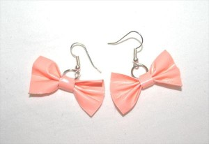 diy duct tape bow earrings