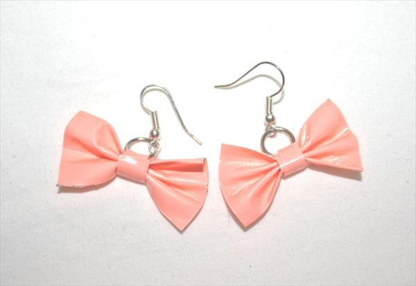 diy duct tape bow earrings