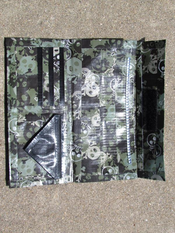 handcrafted duct tape clutch
