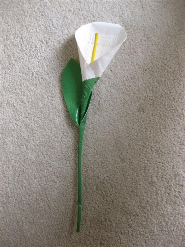 handcrafted duct tape lily flower