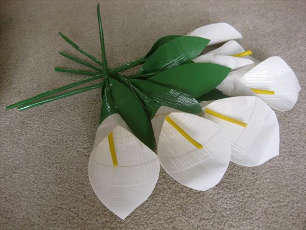 duct tape flower bouquet