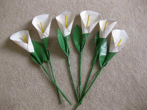 handmade duct tape flower