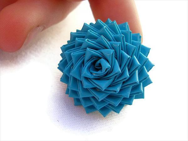 diy duct tape rose flower