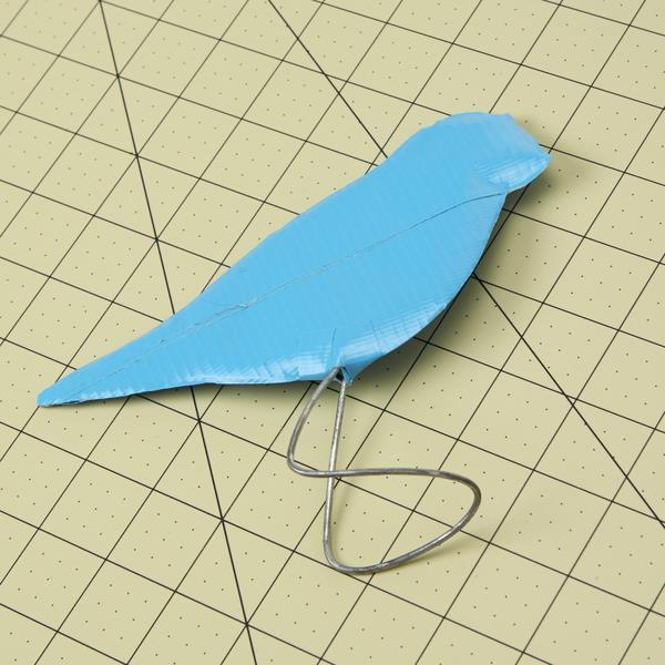 handmade duct tape standing bird