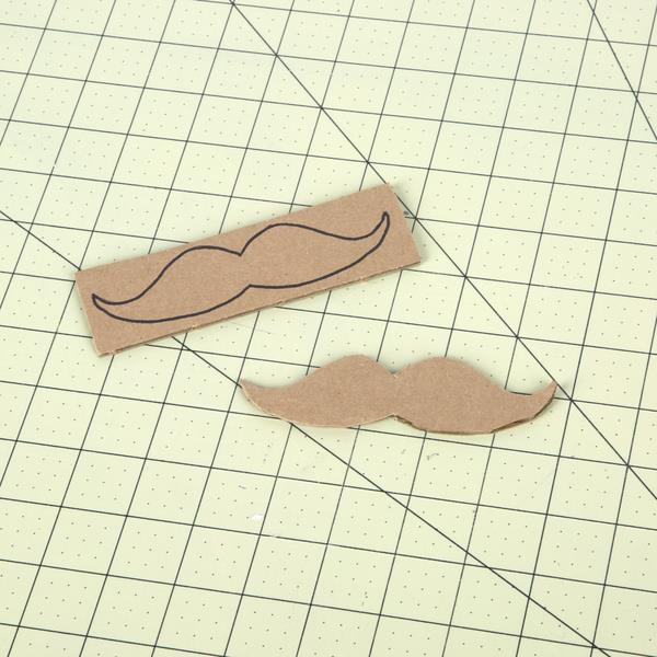 drawing the mustache pattern