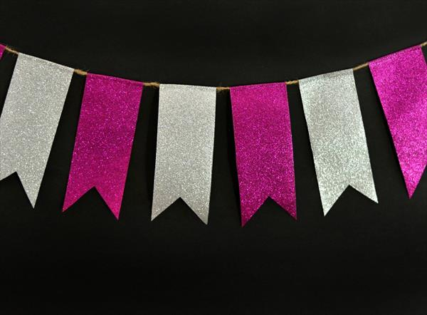 homemade duct tape bunting