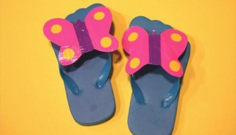 diy duct tape butterfly slippers