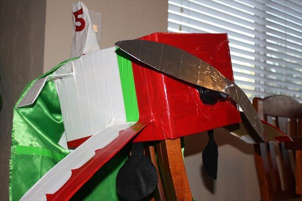 diy duct tape and cardboard airplane costume