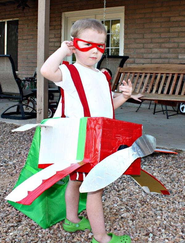 airplane costume out of duct tape