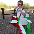 duct tape cardboard airplane costume