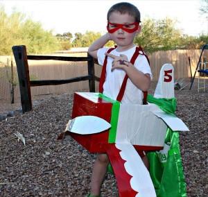duct tape cardboard airplane costume