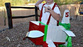 Card Box and Duct Tape Airplane Dress
