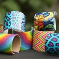 diy duct tape cardboard bracelets