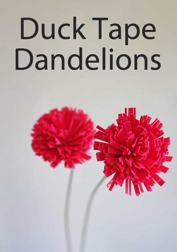 handmade duct tape dandelions