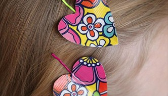 Duct Tape Heart Hairpins: DIY