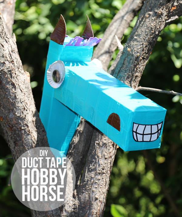 diy duct tape horse