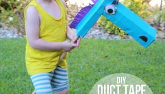 handmade duct tape horse