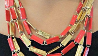 Duct Tape and Paper Clip Jewelry Tutorial