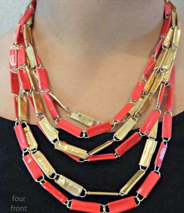 diy duct tape paper clips jewelry.