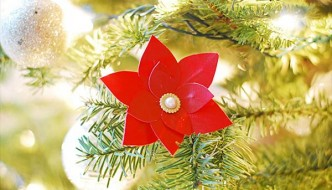 Duct Tape Poinsettias Flower Tutorial: DIY