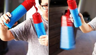 Pool Noodle Duct Tape Nunchucks